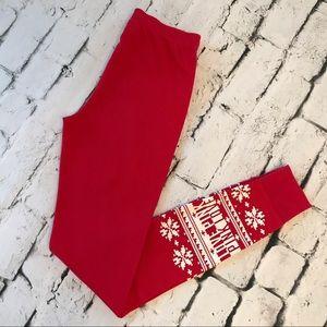VS Pink Thermal Christmas Pajama Bottoms Size S